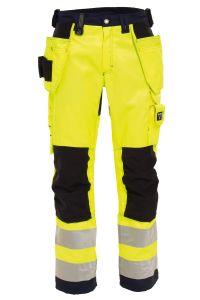 Dame håndværkerbuks Hi-Vis, gul/marineblå, 36_48594494636